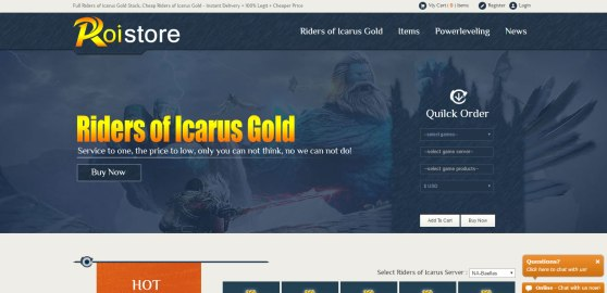 Roistore - best way to get Riders of Icarus Gold Without Ban